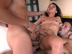 This horny brunette asian babe Lady Mai is here today to get her all holes fucked by two horny hunks Juan-Z and Nick Moreno.See how this sexy Filipina star gets double cock in her both holes at same time in this hot threesome video.