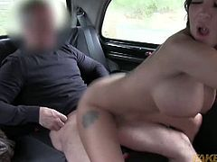Sexy dancer from London named Emily is ready to get into the taxi and have some fun with the driver. After she sucked on his meaty cock she took it into her cunt.