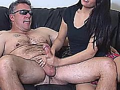 The scene opens with Jade confronting her boyfriend for letting her mother jerk him off.