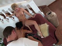 Gorgeous looking brunette salacious chick and her blond head sizzling bitchy kooky provide each other with passionate and sweet pussy licking. Watch this amazing pussy eating in Fame Digital porn video!