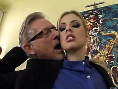 Christoph Clark explores the depth of naughty Jessie Volts butthole with his schlong after suck job