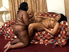 This video features a couple of BBW whores who are getting naked and taking turns playing with each other, using toys and getting off.