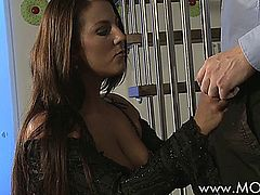 Horny Brunette Craves His Cock