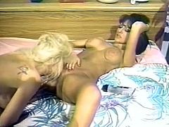 These smoking hot lesbians with big luscious boobs are in love. They make each other cum pretty quickly caressing each other's sweet pussies orally.