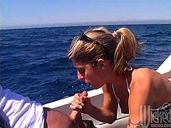 Hot sex voyage on the yacht with kinky Kiri