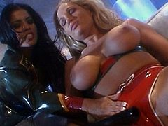 Nasty babes are enjoying pure femdom