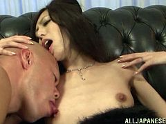 Horny Asian babe's pleased by two horny guys