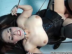 Take a look at this hardcore scene and watch these sexy ladies having a great time with this guy's large cock as their asshole gets stretched out by him.
