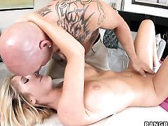 Tasha Reign with huge boobs and trimmed cunt does dirty things and then gets cum sprayed