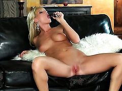 Niki Young does her best to make your cock harder in solo scene