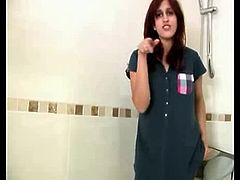 NRI Girl undressed , flashing her Nudely in Bathroom