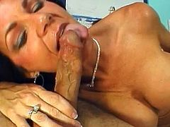 Big tits mature pornstar feels great only when having her tight holes ravaged