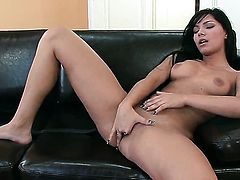 Angel Pink cant stop toying her wet hole