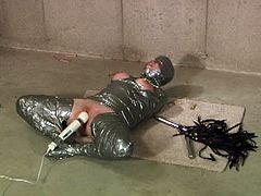 Wasteland brings you a hell of a free porn video where you can see how a hot and wild slave gets covered in duck tape and tortured by her master before he vibrates her cunt.