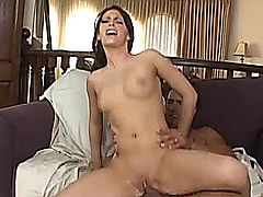 Jenna Presley has just been fucked silly and her pretty face is covered in cum, but the look in her eyes tell you it's just not enough. She loves taking the biggest cocks hard and deep but it's never enough for her. She wants more and she just can't get enough!