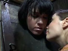 Top Grl brings you an exciting free porn video where you can see how the hot brunette Tricia Oaks is Sister Dee's hot slave. See her getting tied up and dildoed into heaven.