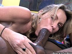 Rough interracial sex with the busty Courtney Cummz