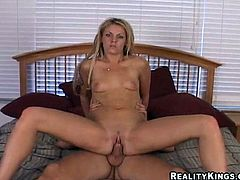 That oral sex was so fucking long. Babe kept sucking it with passion and then finally he sticks it in her sweet cunt, having put a condom on!