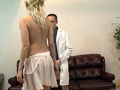 Eric Jover is having fun with slutty blonde Natasha Monroe. The Asian dude shows his pussy-licking skills to Natasha and then fucks her cunt in missionary position.