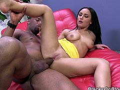 Gabriella Paltrova is a gorgeous brunette with an amazing body getting nailed by a monster black cock that makes her moan like never before.