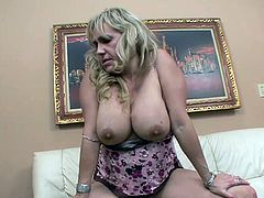 Sexy milf screams while having a black cock slamming her warm pussy