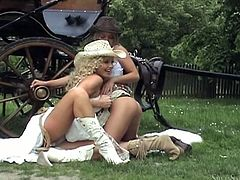 Blonde hottie Silvia Saint loves to play lesbian games, and she likes to lick girls' pussies in sheds and in the fields. Watch this compilation and enjoy every moment of it.