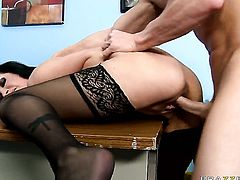 Johnny Sins attacks fascinating Shay SightsS mouth with his love torpedo