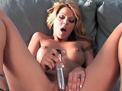 Adorable Cindy Hope likes to pound her fresh twat with this stiff toy