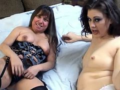 Watch this hot and kinky chubby babes pleasing each other in their bedroom by poking and finger drilling each others wet pussies in ChickPass Network sex clips.