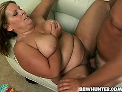 What a stunning and horny siren she is! She is pretty fat and she is going to get a thick cock right in her hot pussy! Blowjob was so good.