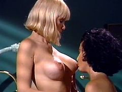 Blond head bosomy chick in crotchless panties and dark haired big tits filthy hoe lick thirsting pussies of one another and apply their gentle arms to please their twats. Watch these hot lesbo sluts in The Classic Porn sex clip!