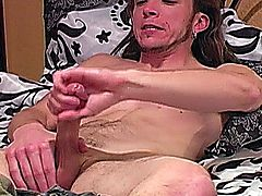 Sexy Muscular Straight Guy Matt Masturbating His large pecker