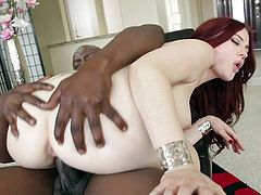 Lexington Steele fucks with redhead Jessica Ryan