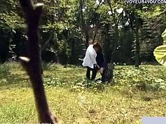 Come and see a naughty Japanese brunette schoolgirl giving her man some head in the middle of the park. This teen bitch is always up for something perverse.
