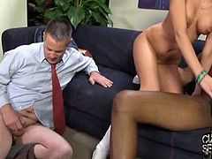 Cuckold Sessions brings you a hell of a free porn video where you can see how the nasty blonde Kaylee Hilton rides a black cock in front of her man til she cums.