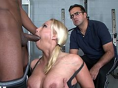 Nicki Hunter fucks with black man Jon Jon