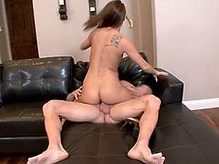 Slender Haley Sweet gets banged in her vagina and ass