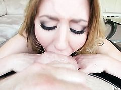 Jonni Darkko stuffs his sausage in horny as hell Sheena Shaws mouth