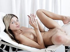 Gina Gerson is full of desire to fuck herself with sex toy