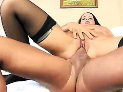 Laura Lion with huge boobs takes love stick in her booty