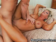 Seth Gamble buries his rock hard dick in delicious Kristal Summerss hole