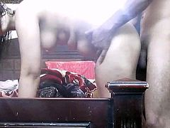 Dirty babe enjoys hardcore sex on cam during their amateur porn adventure