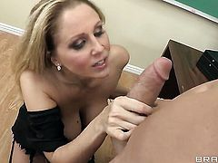 Julia Ann with giant jugs and her hot bang buddy Billy Glide enjoy sex too much to stop