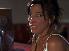 Make sure you take a look at this hardcore scene where the smoking hot brunette milf Lezley Zen is fucked by a stud in a diner.