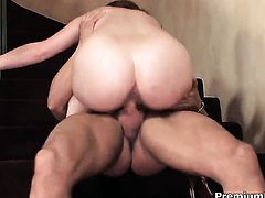 Ginger Blaze cant resist guys hard dick