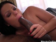 Take a look at this hardcore video where the naturally busty brunette Klaudia Hot is fucked by a big black cock as you hear her moan.