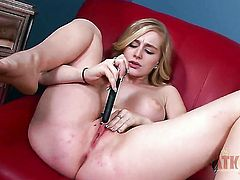 Blonde asian Stacie Jaxxx wants this solo sex session to last forever
