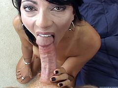 Amazing sex with the horny brunette Zoey Holloway
