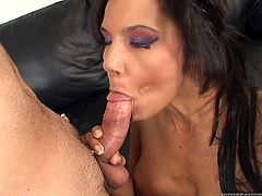 Anjanette Astoria is a horny mild with big natural tits and an amazing ass. Take a look at this hardcore scene where this mommy's fucked silly by a guy.