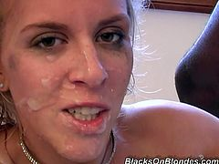She is insatiable hoe who loves to suck several huge cocks in the same time. Enjoy watching her sucking cocks and getting face covered in sperm.